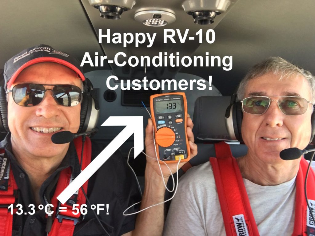 Happy RV-10 Air Conditioning Customers