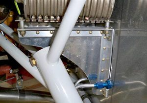 oil cooler bracket aircraft part