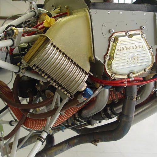 oil cooler mount installed
